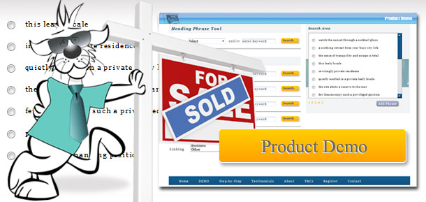 Real Estate Copywriting Phrase Finder Product Demo